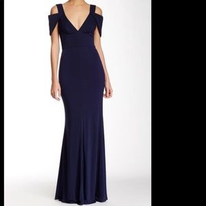 ABS by Allen Schwartz Navy Gown Sz S